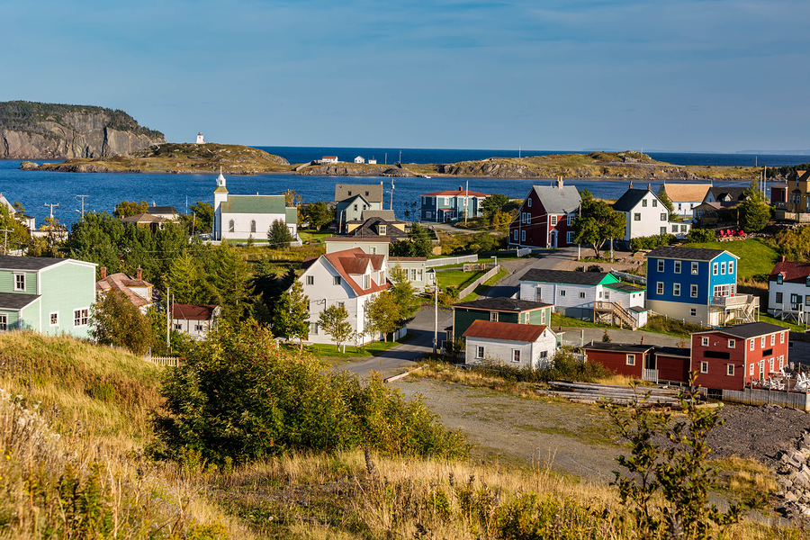 Village of Trinity, Newfoundland, Canada.