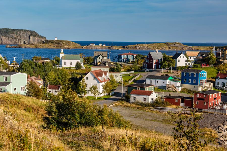 Village of Trinity, Newfoundland, Canada.